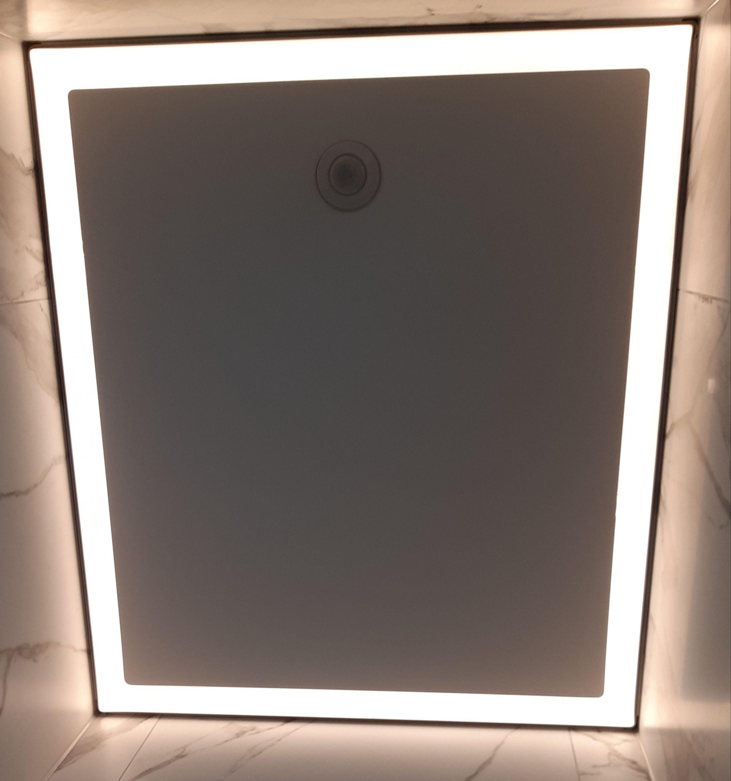 inspiratie toilet spanplafond met verlichting