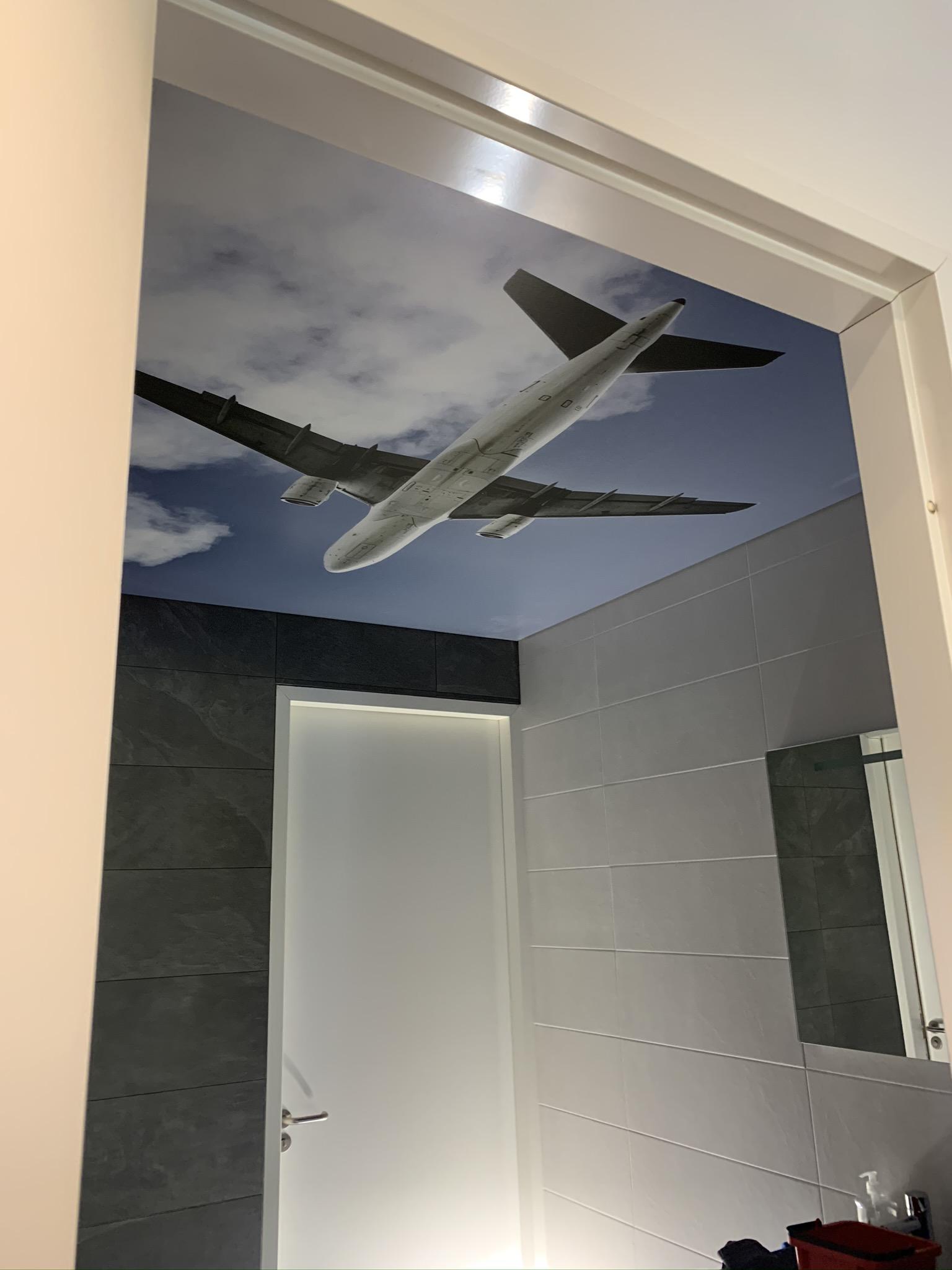lichtprint motief in spanplafond