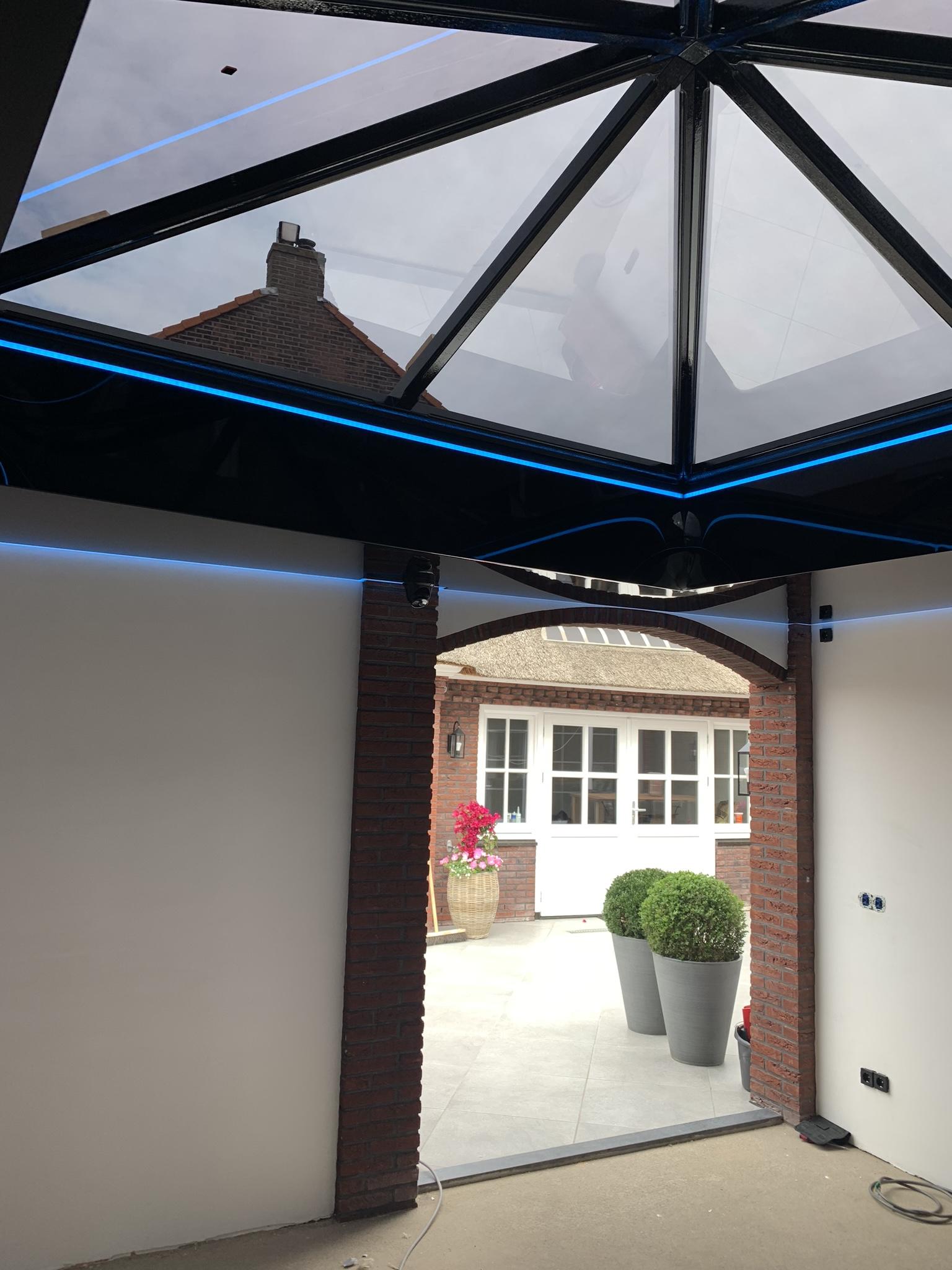 verlichte plafond boven uw overkapping of garage