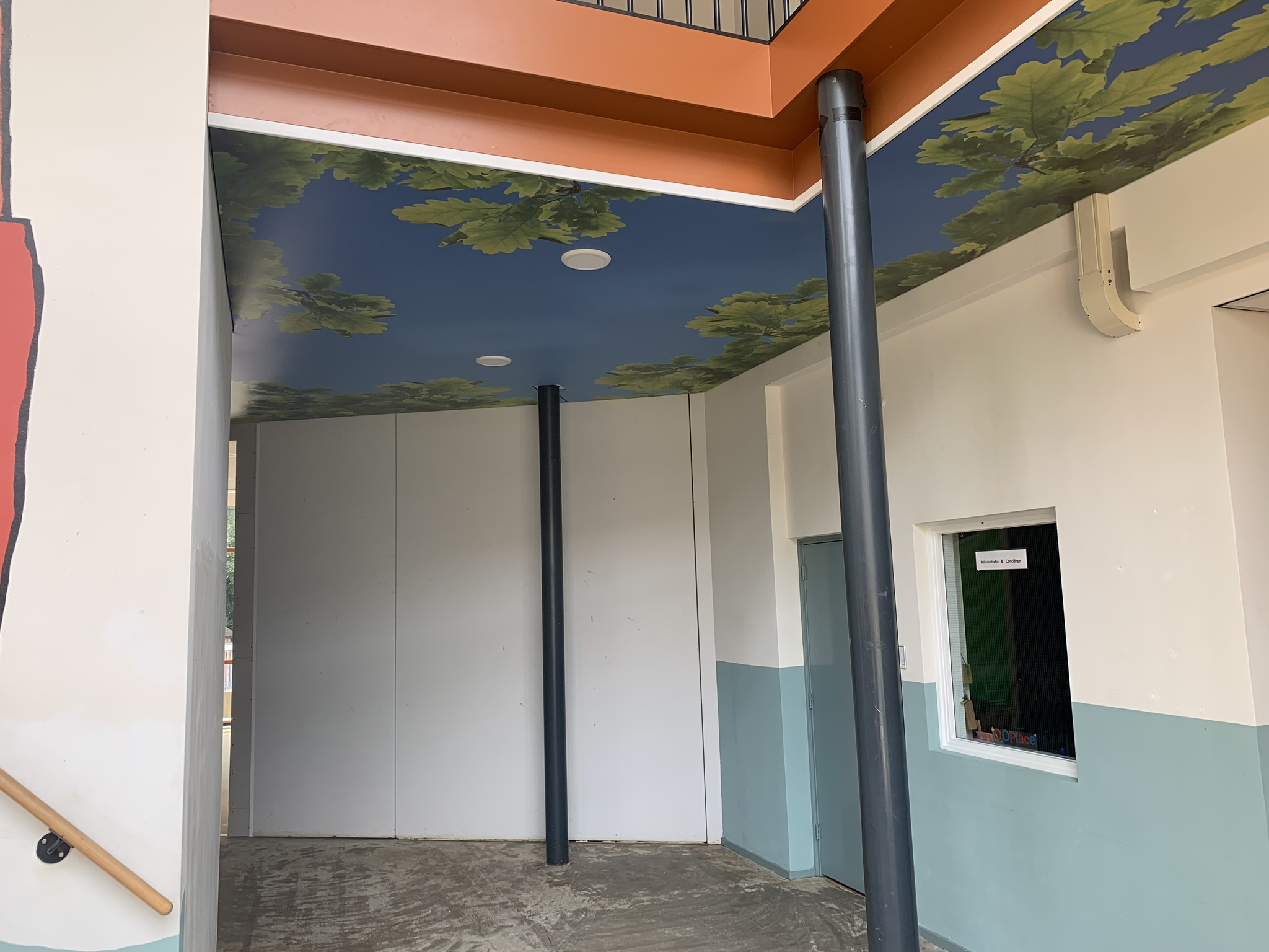 spanplafond met een natuur print