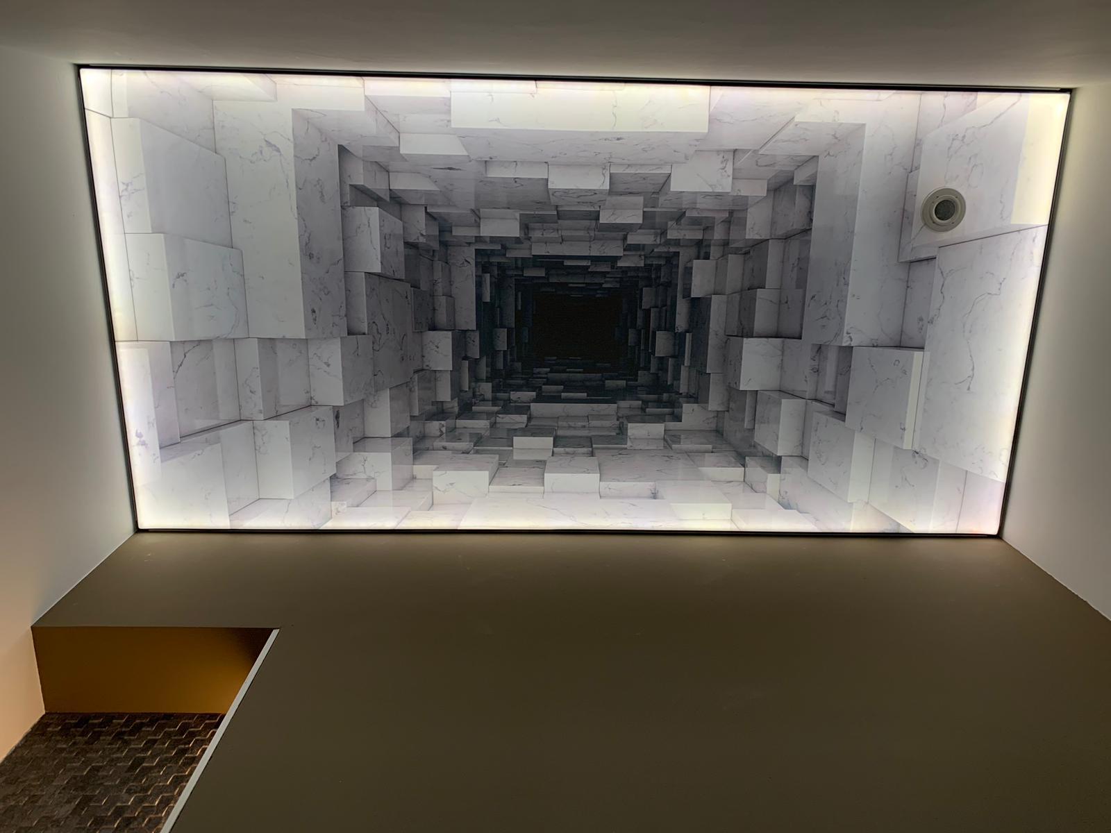 verlichting in toilet met spanplafond
